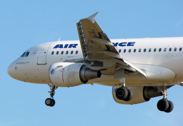 Airbus A318, volets, slats
