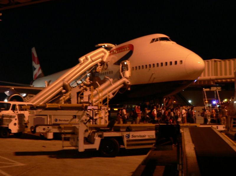 G-CIVB apres l'evacuation