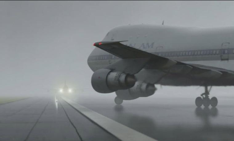 Le brouillard réduit la visibilité