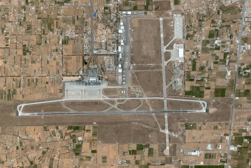 L'aéroport de Tripoli (TIP) - Vue aérienne