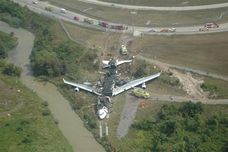Restes de l'Airbus A340 de Air France