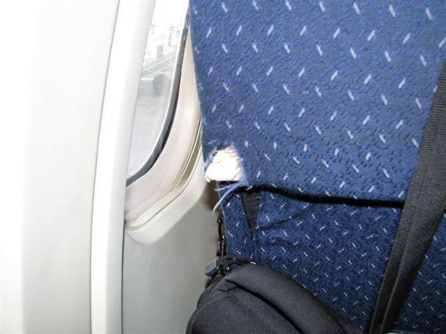 Avion de ligne en mauvais etat