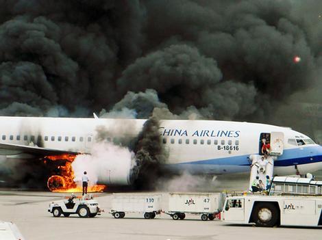 737-800 en feu