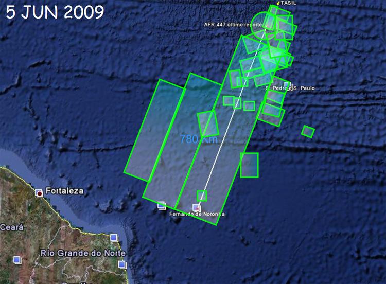 Zone de Recherche en mer de l'Air France 447